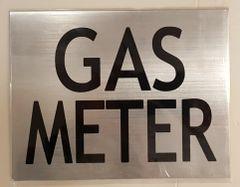 GAS METER SIGN – BRUSHED ALUMINUM (6X7.75)