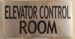 ELEVATOR CONTROL ROOM SIGN – BRUSHED ALUMINUM (6X11.75)