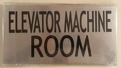 ELEVATOR MACHINE ROOM SIGN – BRUSHED ALUMINUM (6X11.75)