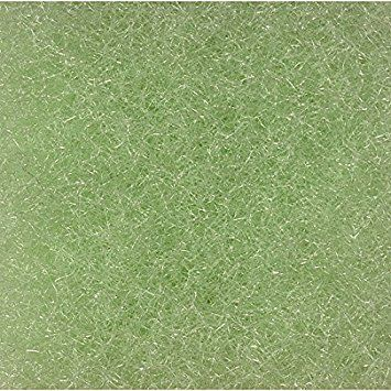 PolyFlo Filter Material 56 Inch x 1 Inch thick Lime Green