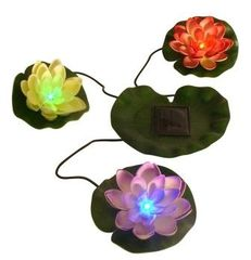 Beckett Solar Powered LED Lily Pads 7216710