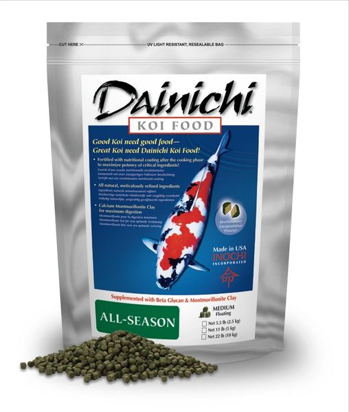 Dainichi All Season Koi Food Medium Pellets