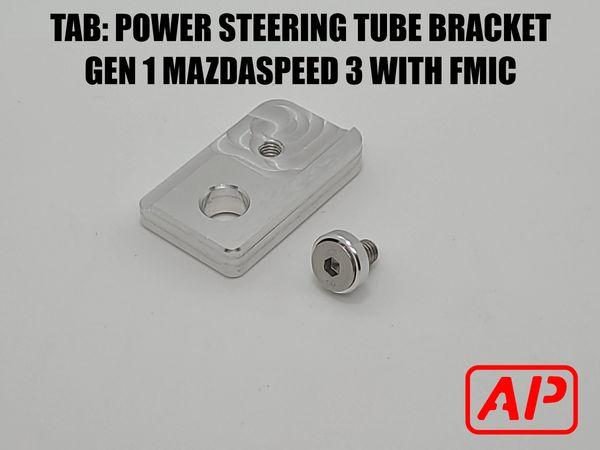 [AP] TAB v2 Power steering tube bracket. GEN 1 MAZDASPEED 3 POWER STEERING TUBE BRACKET FOR FMIC CARS