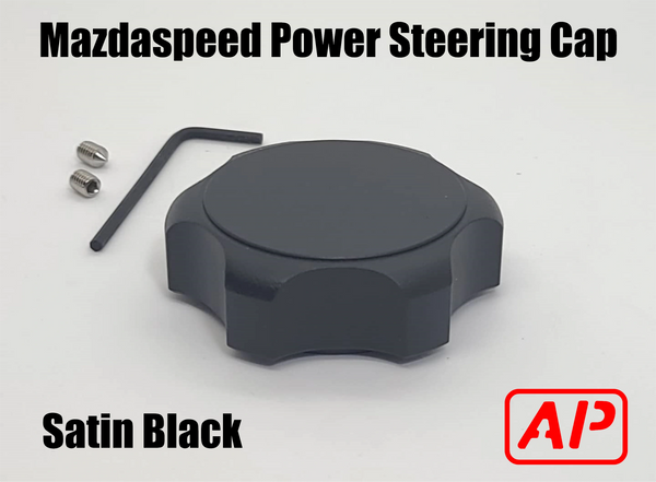 [AP] Billet Aluminum Mazdaspeed 3 & 6 Power Steering reservoir cap. (Fits many Mazda Models with oem twist cap)
