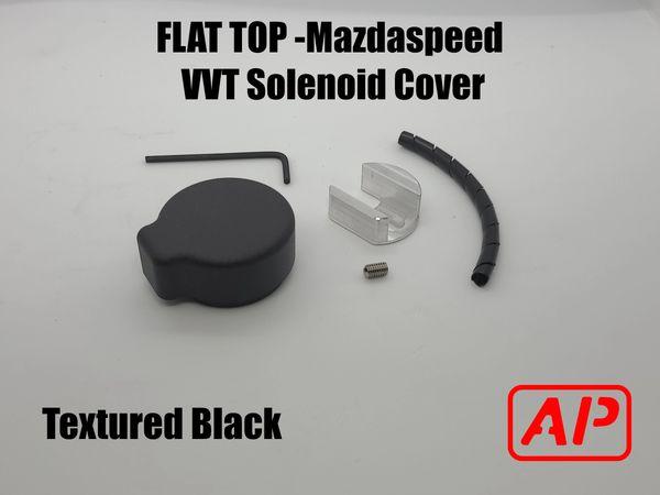 [AP] Flat Top Billet Aluminum VVT Solenoid Cap Kit : Mazdaspeed 3 - Mazdaspeed 6 All Years