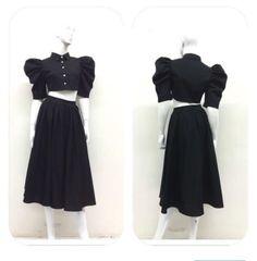 Crop Top and Skirt (2-Piece)