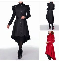 Victorian Hi-Lo Jacket (Black)