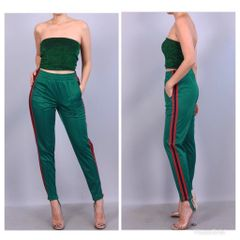 Striped Stirrup Track Pants