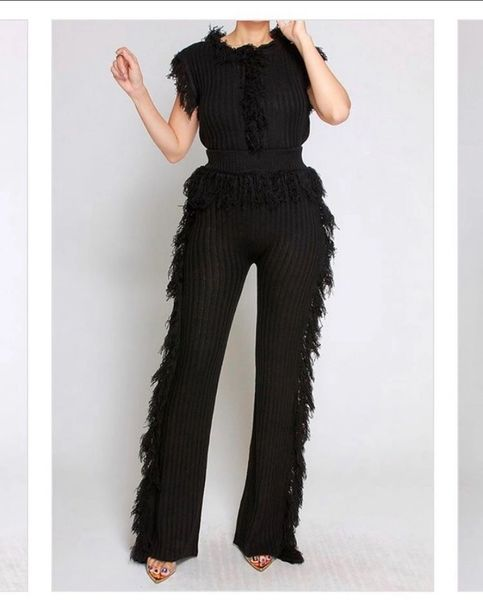 2 - Piece Fringe Sweater Set