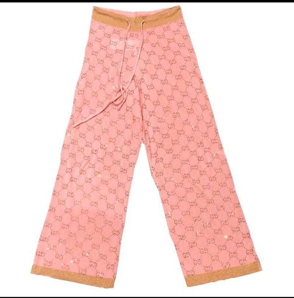 GG Rhinestone Logo Sweater Pants