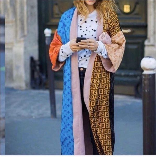 Label Matrix Oversized Kimono