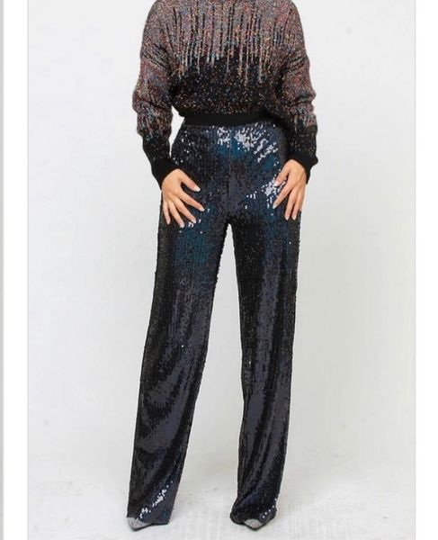 High Waisted Sequin Pants