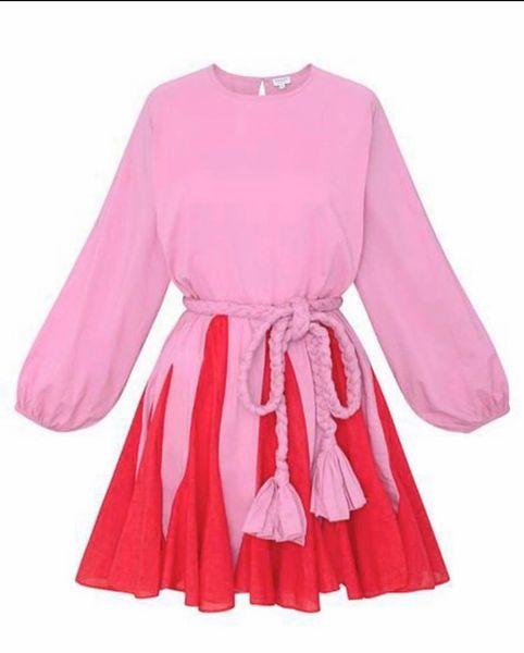 Pink Flare Mini Dress