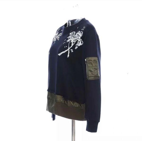 Sequin Palm Flight Sweatshirt