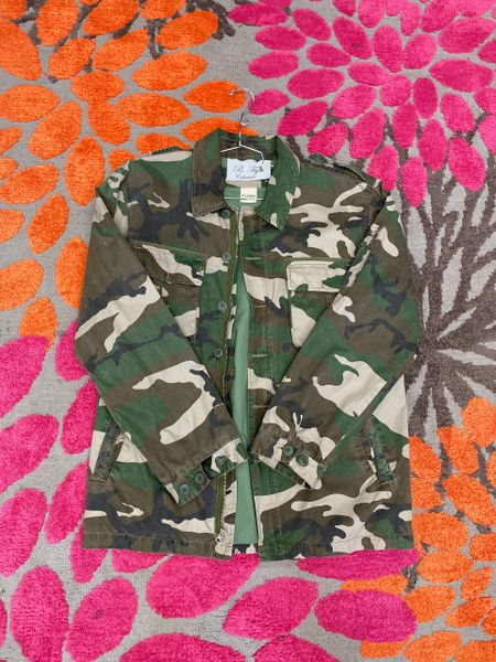Red Lip Camouflage Jacket