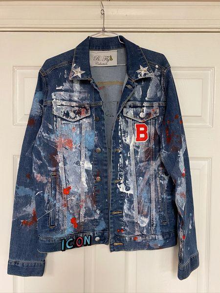 B. Fly Rocks Painted Denim Jacket
