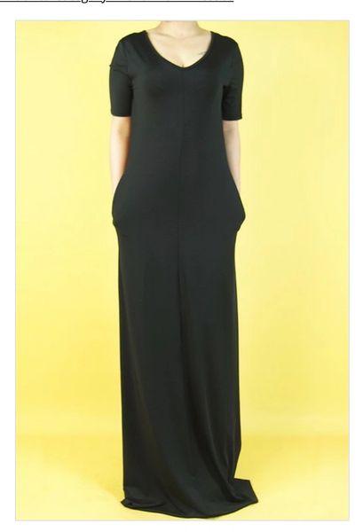 Black Maxi Dress w/ Pockets