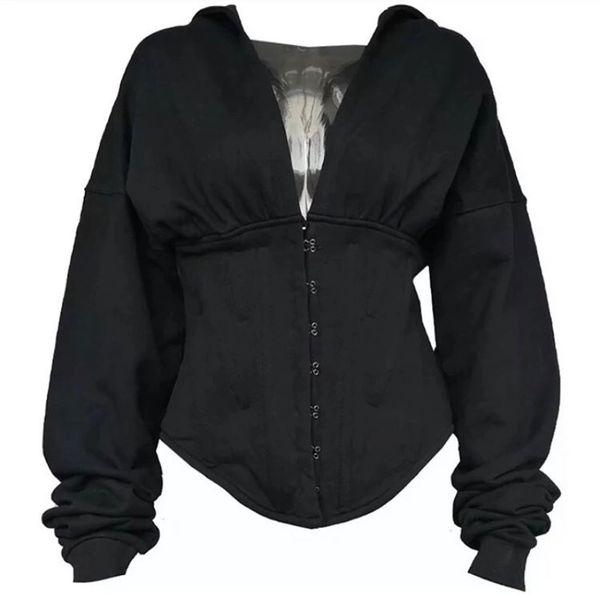 Black Corset Hoodie