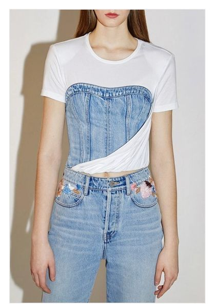 Denim Corset T-shirt