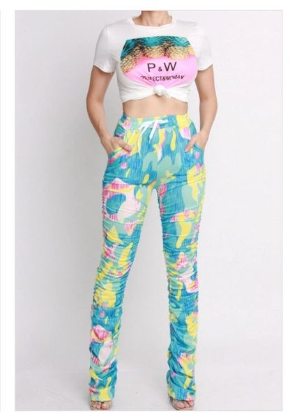 Confetti Ruched Heavy Bottom Pants