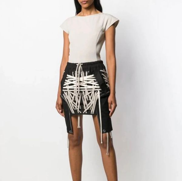 Laced Asymmetrical Mini Skirt (Available July 20, 2020)