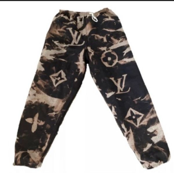 Bleached LV Inspired Joggers