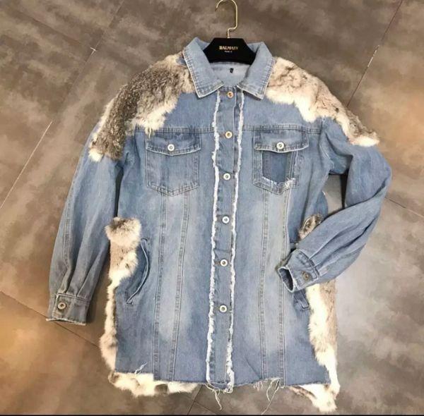 Fur Embellished Denim Jacket