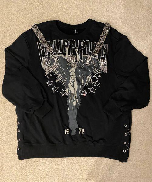 Plein Embellished Long Sleeve Sweatshirt