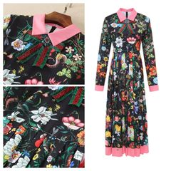 Floral Maxi Long-Sleeve Dress