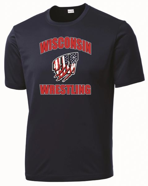 WI Wrestling USA Dri-Fit Tee