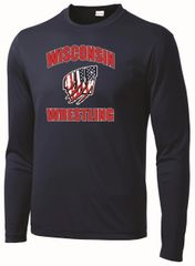 WI Wrestling Dri-Fit USA Long Sleeve
