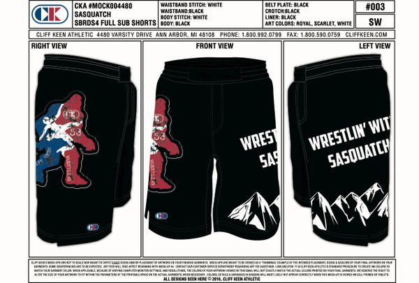 Wrestlin' With Sasquatch Fight Shorts