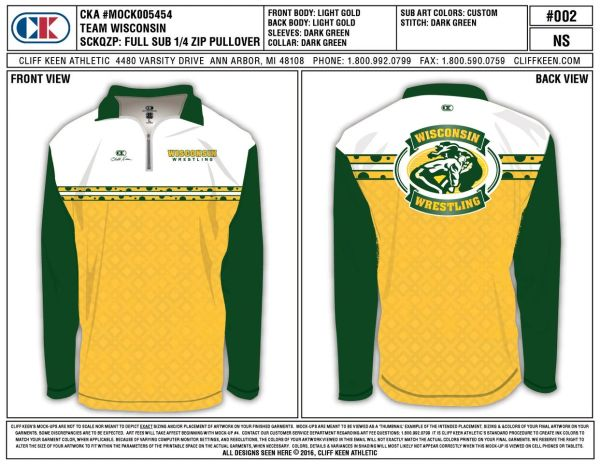 Green Bay Packers Inspired Wisconsin Wrestling Jacket