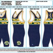 "Wisconsin ""Big Cheese"" Singlet - Blue"
