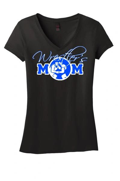 Wrestler's Mom V-Neck Shirt