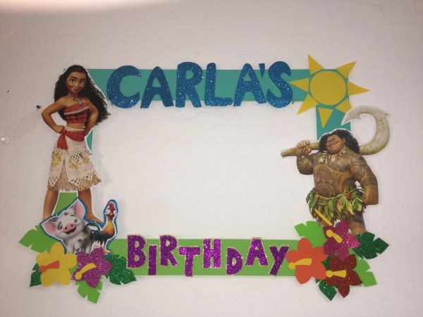 Moana Photobooth Frame Props Party Frame Birthday,