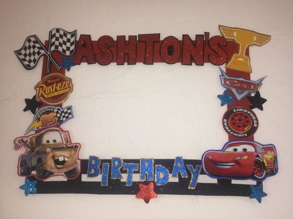 Cars Birthday Party Cars Photo Booth Frame Cars Photo Booth Pro
