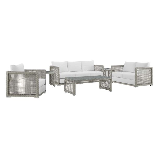 MD355900013 6 Piece Patio Gray /White