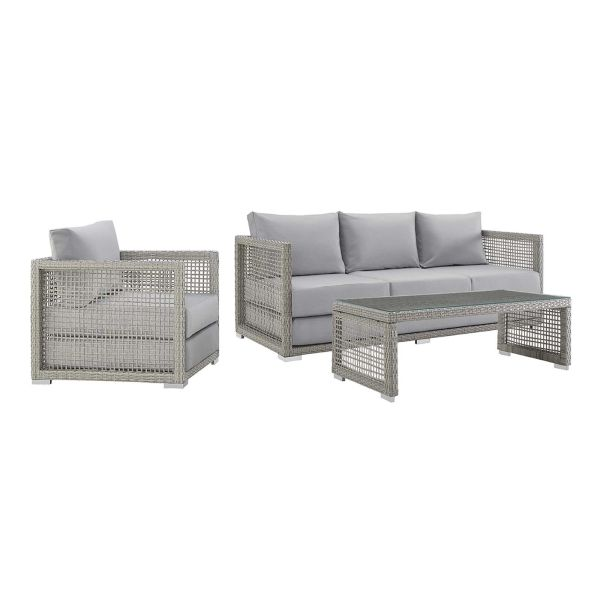 MD359900014 3 Piece Outdoor Patio Gray/ Gray
