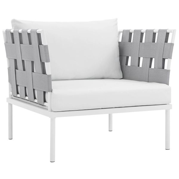 MD2602000018 Patio Aluminum Armchair White