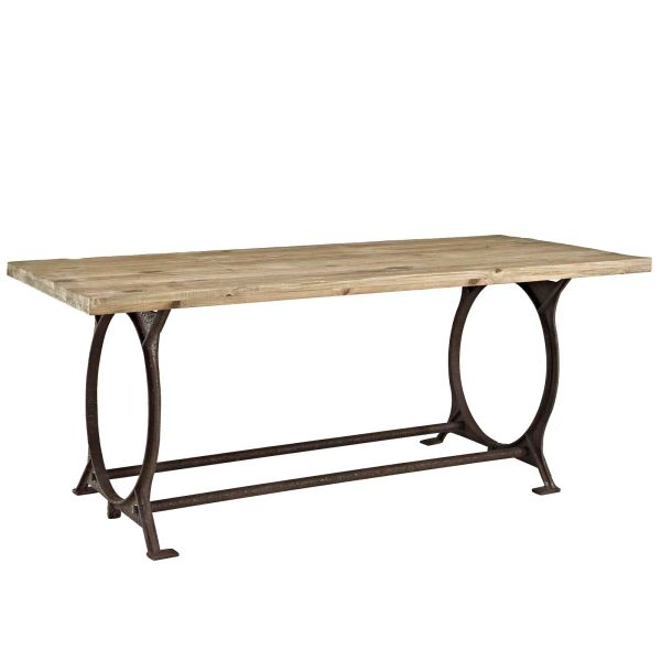 MD120500032 Rectangle Wood Top Dining Table Brown