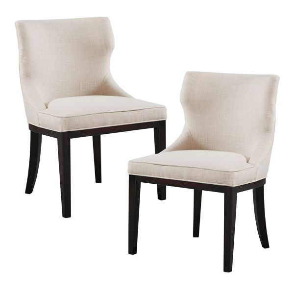 OMP100002700019 Dining Chair (Set of 2) Linen/Black