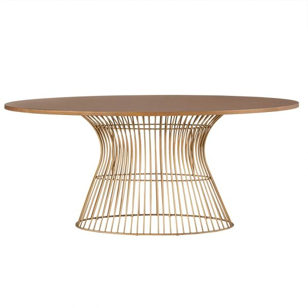 OMP20006200033 Oval Dining Table Antique bronze