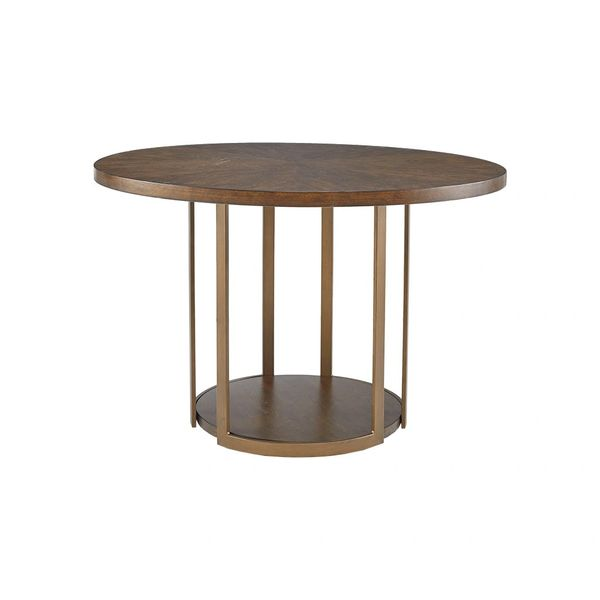 OMP12107893564 Round Dining table bronze