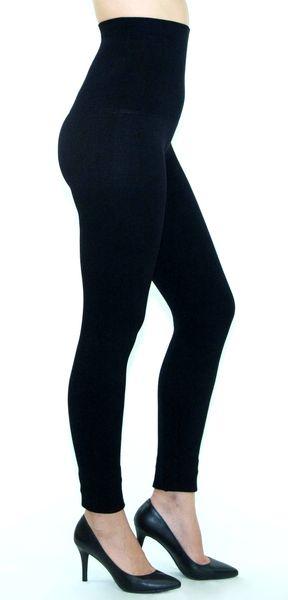 7ef3cba300bea6 High Waist Tummy Compression Control Leggings, French Terry Lining AL17457