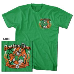 Boston Fire Angry Leprechaun Tee