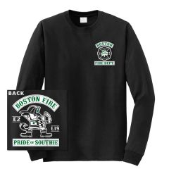 Boston Fire Fightin' Irish Long Sleeve Tee (BLACK)