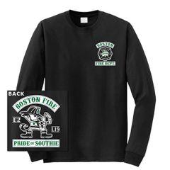 Boston Fire Fightin' Irish Long Sleeve Tee (BLACK)