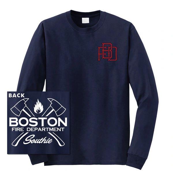 Boston Fire Dept. Interlock Long Sleeve T-shirt