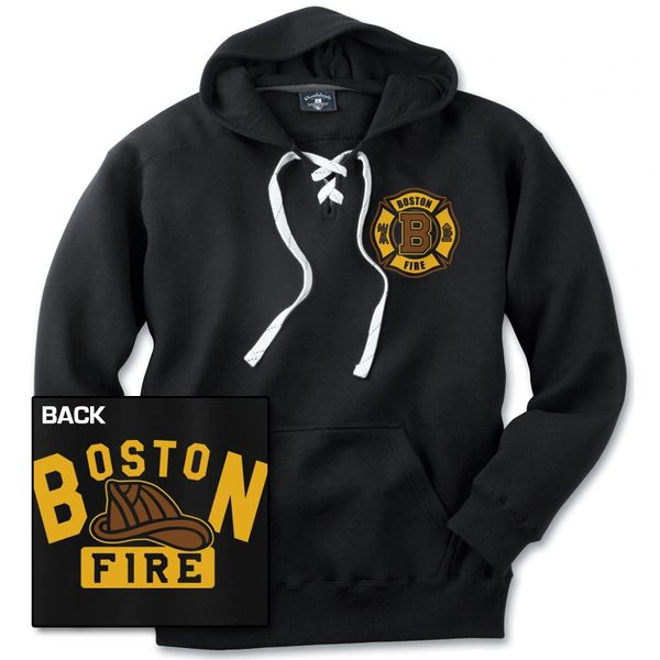 Boston Fire Old Time Hockey Hooded Sweatshirt